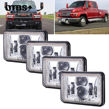 4X6 Car Led Headlight Square Light White Sealed Beam High/low Beam Replacement Led Headlamp For Ford Trucks Offrord