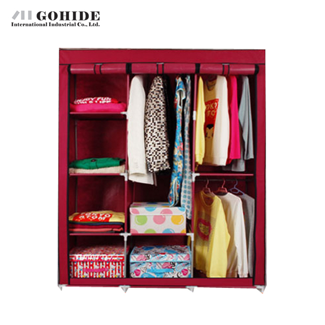 Superb Gohide Wardrobe Combination Folding Wardrobe Double Wardrobe Steel Frame  Large Home Furnishing Closet Lockers For Bedroom