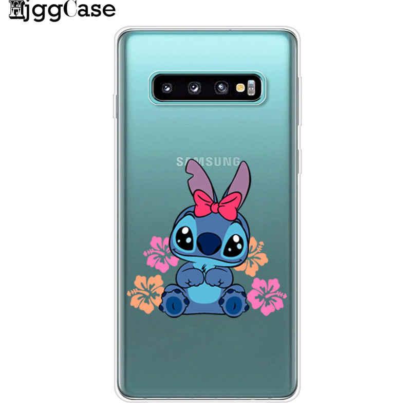 Caixa Do Telefone Do Ponto bonito Engraçado Para Coque Samsung Galaxy S6 S7 Borda S8 S9 S10 Plus Lite S10E 5G a520 A7 A6 A8 2018 TPU Capa Fundas