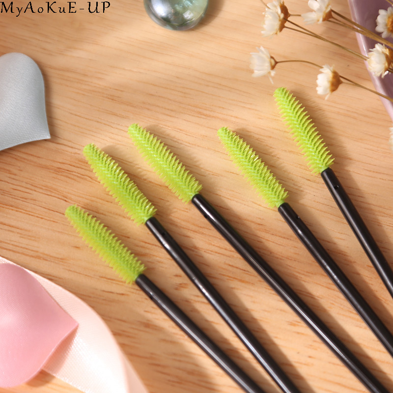 Image 5 - 1000 pcs/lot Wholesale Silicone Eyelashes Brushes 21 colors  Disposable Makeup Brushes Eyelash Extension Mascara Wand Applicator-in Eye Shadow Applicator from Beauty & Health