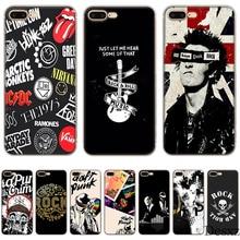 9dd3c4e700e Gerleek caja del teléfono para iPhone 7 7 6 6 s Plus X XS X XR Max 5 5S  cubierta Punk rock