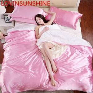 Image 5 - LOVINSUNSHINE Luxury Duvet Cover Comforter Bedding Sets Double Luxury Silk Bedding Set AX05#