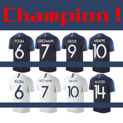 T-shirts in Commemoration of France's Championship Breathable Team Uniforms Football Soccer Jerseys Training Shirt TEE