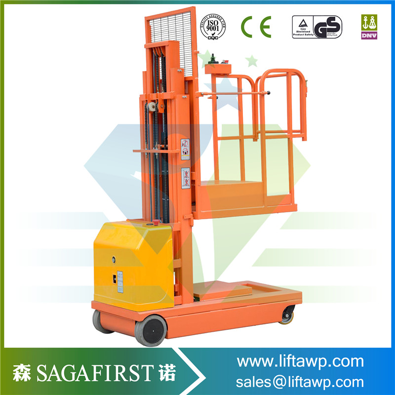 Simple Structure Electric Self Propelled Order Picker Can Be Customized