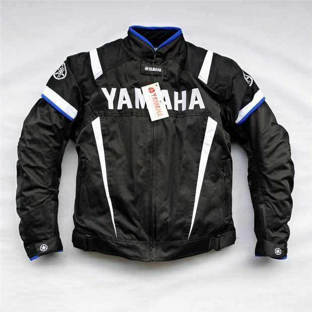 Moto GP Winter Jacket With Protector For YAMAHA Team Motorcycle Racing Clothing Black Blue 2018 winter blue black riding protective jacket motogp racing clothes for yamaha winter motorcycle clothing