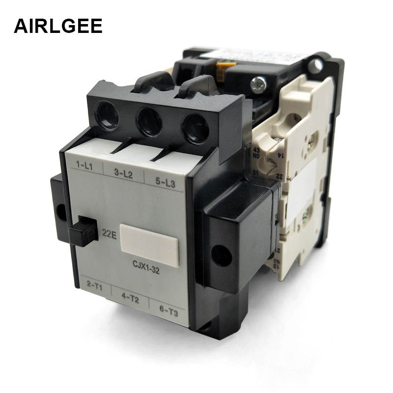 цена на CJX1-32/22 3TB43 110V/50Hz 129V/60Hz Coil Voltage 3 Phase 2NO 2NC General Purpose AC Contactor