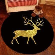 Nordic Geometry Round Carpet Baby Play Tent Gym Rug For Living Room Doormat Cartoon Floor Mat Bedroom Crawling Kids