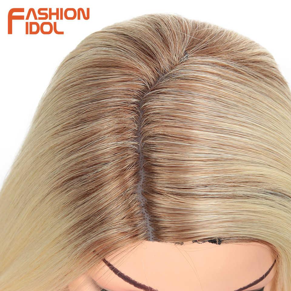 الأزياء المعبود 38 بوصة مستقيم طويل بيروكات صناعية للنساء السود عالية درجة الحرارة الشعر أومبير 613 الأحمر تأثيري الباروكات الاصطناعية الشعر