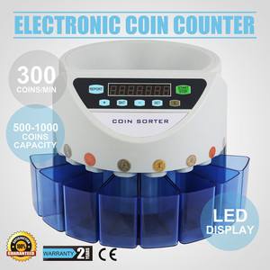 GBP Coin Counter Sorter 45W Electronic Automatic UK GBP Coin Counting Machine 500-1000 Coins UK Pound Coins Counter Machine(China)