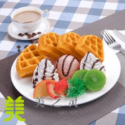 Muffin à café diffus modèle de simulation personnalisé occidental d'un modèle de gaufre - 3