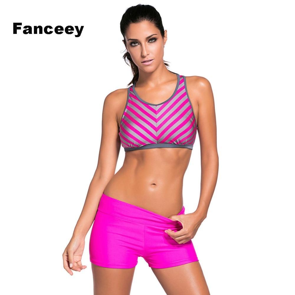 Fanceey 2019 Lady Sexy Solid Crop Top Biquini Cut Swim Wear Bathing Suit Swimsuit Thong Swimwear Women High Waist Bikini