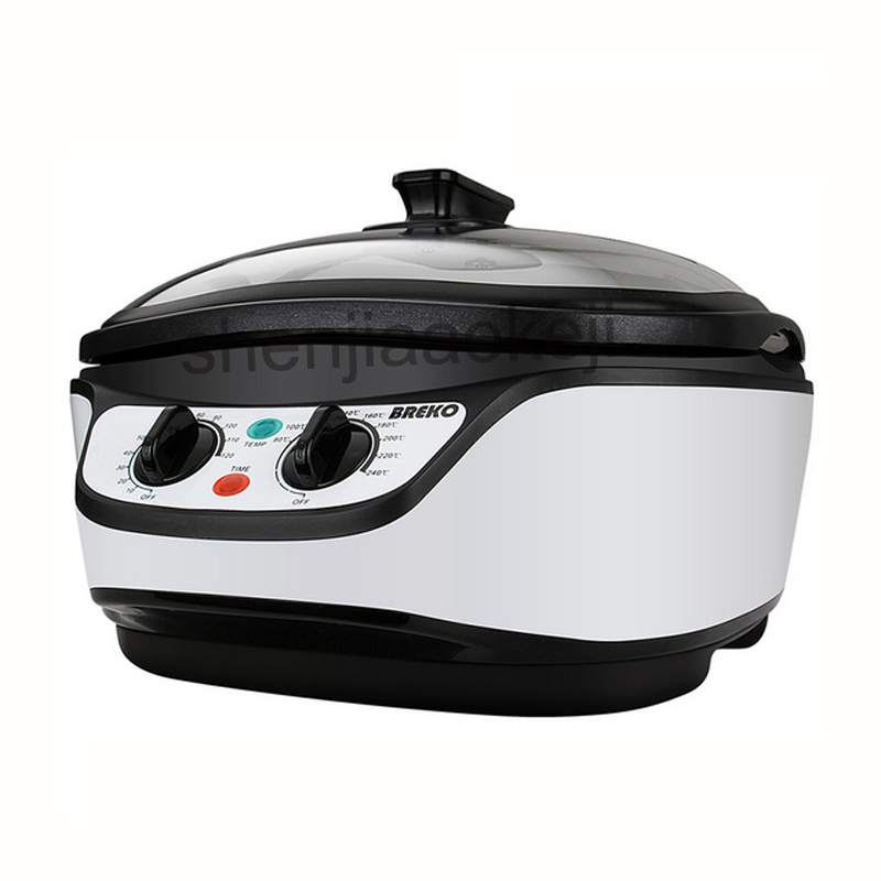 Commercial 5L 8 in 1 multi-function Cookers Boil Slow cook Steam Hot Pot Grill Warm Deep Fry Household boiler cooker 220v1500w homeleader 7 in 1 multi use pressure cooker stainless instant pressure led pot digital electric multicooker slow rice soup fogao
