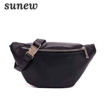 Fanny Pack Waist Bag Heuptas Belt Bag Soft Leather Waistbag Heuptasje Bolsa Cintura Waist Bags Leather Fanny Pack Black K028