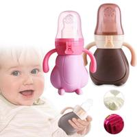 Top Silicone Baby bottle Pacifier Large Capacity baby Nipple Fresh Food Milk Nibbler Feeder Feeding Infant Feeding Bottles R4