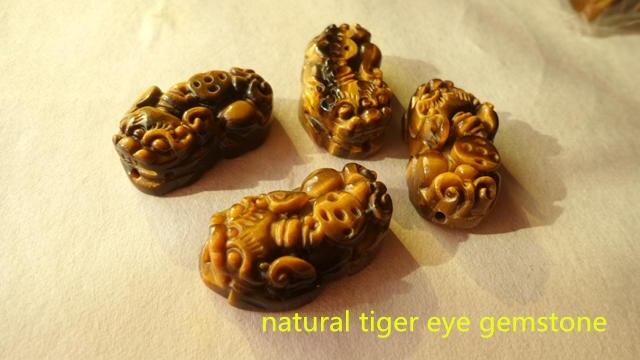 TSB0475 Королевский Камень-натуральный желтый тигровый глаз Pixiu удача амулет счастливые Подвески Пара для пары