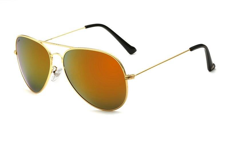 Солнцезащитные очки унисекс VEITHDIA, брендовые классические дизайнерские очки с зеркальными поляризационными стеклами, степень защиты UV400, для мужчин и женщин - Цвет линз: goldorange