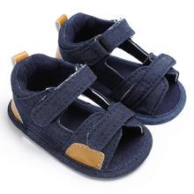 Мальчиков Малыша Холст Младенческой Дети Девушка мальчиков Sole Кроватки Малыша Сандалии Обувь сандалии для мальчика