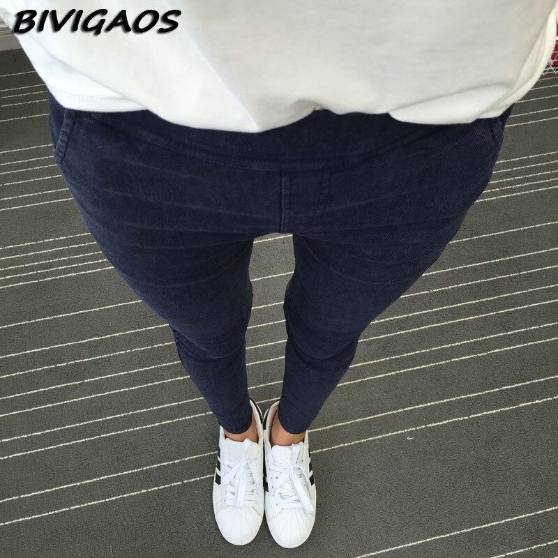 2017 New Women's Slanting Pocket Washed Jeans Leggings Pencil Pants Elastic Denim Leggings Skinny Jeans Jeggings Women Trousers