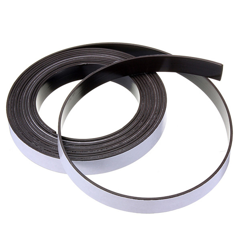 3 Meter 12.7 x 1.5mm Self Adhesive Rubber Magnetic Tape Magnet Strip Strong suction Can Cut a Variety of Shapes DIY 10m super strong waterproof self adhesive double sided foam tape for car trim scotch