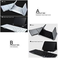 portable aluminum B.O.W  Portable Folding Bluetooth Keyboard, Pocket size  Folded Aluminum Wireless Mini Keyboard Case for Tablet/iPad /iPhone (5)