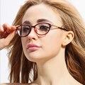 Retro espetáculos de vidro liso para as mulheres e homens full frame óculos Simples espelho óculos Unissex quadro óptico