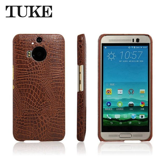 detailed pictures d2d5f d3eed US $3.44 28% OFF|TUKE Crocodile Pattern Case for HTC One M9 Plus Hard PC  Back Cover For HTC M9 Plus Leather Coque for HTC M9Plus Phone Housing-in ...
