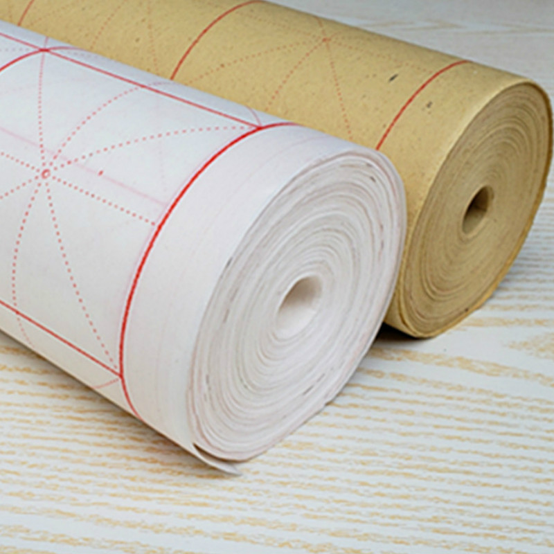Intersected Figure Rice Paper Chinese Traditional Calligraphy Writing Xuan Paper Chinese Landscape Painting Half-Ripe Xuan Paper