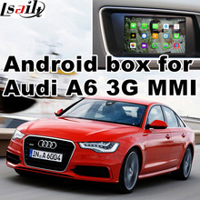Android GPS navigation box video interface for Audi A6 A7 (3G MMI system) with cast screen
