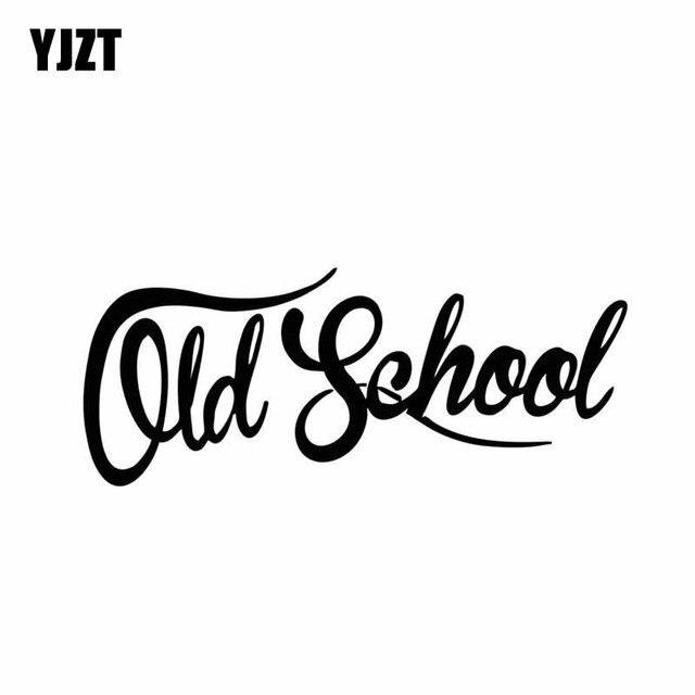 YJZT 15.2 CENTÍMETROS * 6.1 CENTÍMETROS Da Velha Escola Adesivo de Carro Vinyl Decal Truck Engraçado Clássico Preto/Prata C10 01079
