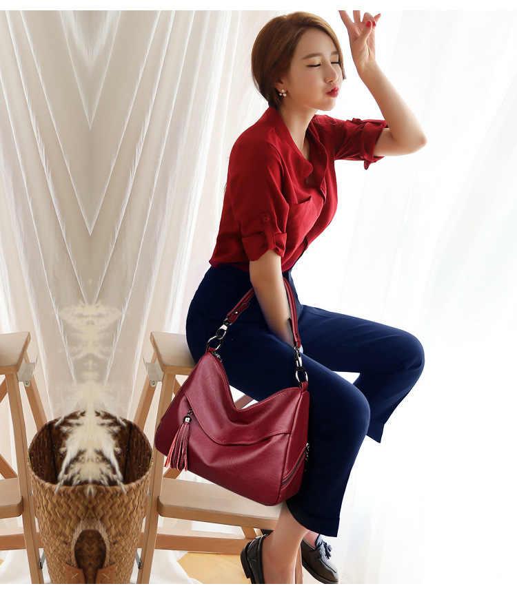 Fashion Women Handbags Tassel Leather Totes Bag Top-handle Embroidery Crossbody Bag Shoulder Bag Lady Simple Style Hand Bag C860