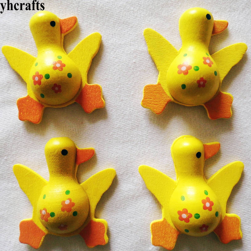Dedicated 5pcs/lot,3d Yellow Duck Wood Stickers Spring Easter Crafts Kids Diy Toys Fridge Stickers Kids Room Wall Decal Decorative Home Lovely Luster Toys & Hobbies Stickers