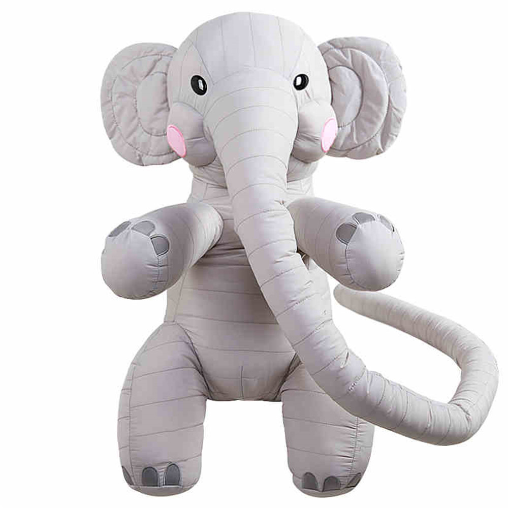 Fancytrader Big 130cm Long Nose Elephant Plush Toy Cute Soft Stuffed Animals Gray Doll for Kids Adults fancytrader 26 65cm giant stuffed soft plush lovely big funny stitch toy cute gift for kids free shipping ft50691