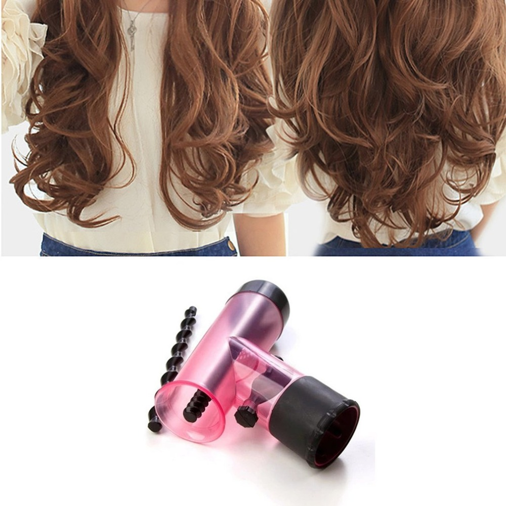 Portable Size Hair Dryer Diffuser Magic Wind Spin Detachable Drying Blow Hair Diffusers Roller Curler Women Hair Styling Tool