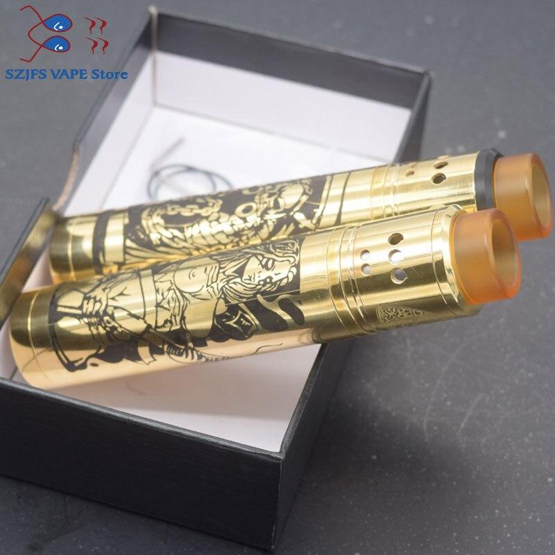 E-cigarette Tower Mod Kit Desolator Z Hybrid Mechanical Mod 510 Thread 18650 Battery With 24mm Diameter Axis RDA Adjustable Vape
