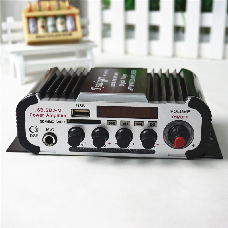 20W+20W HI-FI Audio Amplifier 12V Hi-Fi Mini Auto Stereo Audio Amplifier Support CD MP3 Car Power Amplifier For CAR and Home jtron ta2024 dc 12v double track 15w 15w car pc hi fi mini digital amplifier board green