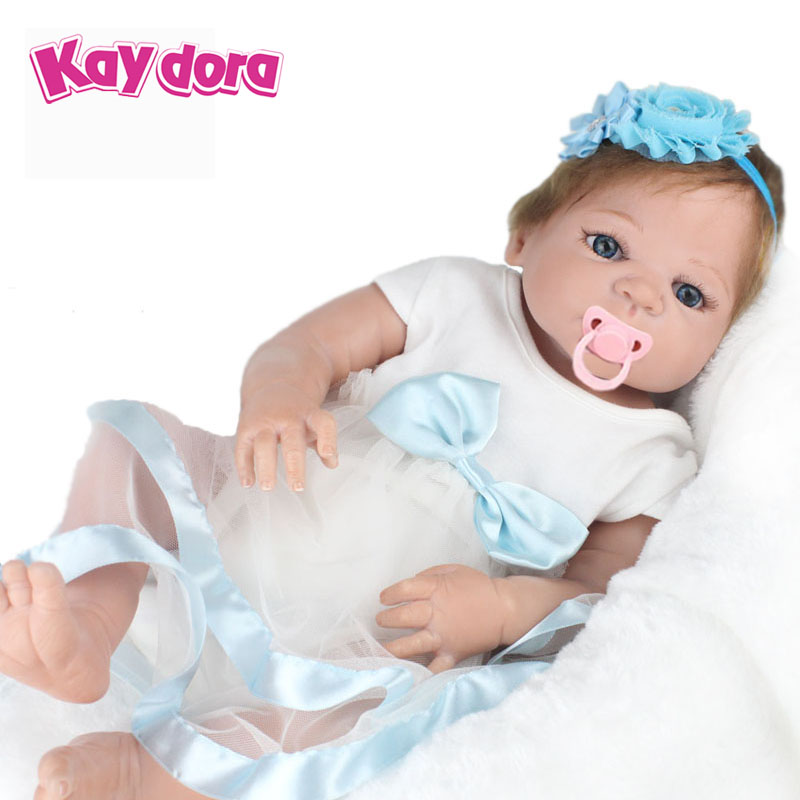 22inch 55cm Full Silicone Reborn Baby Doll Realistic Handmade Alive Real Doll Kids Reborn Babies Princess Girl Toys Gift Bonecas 22 silicone reborn dolls real reborn babies 100% handmade exquisite high quality brand doll reborn children gift doll