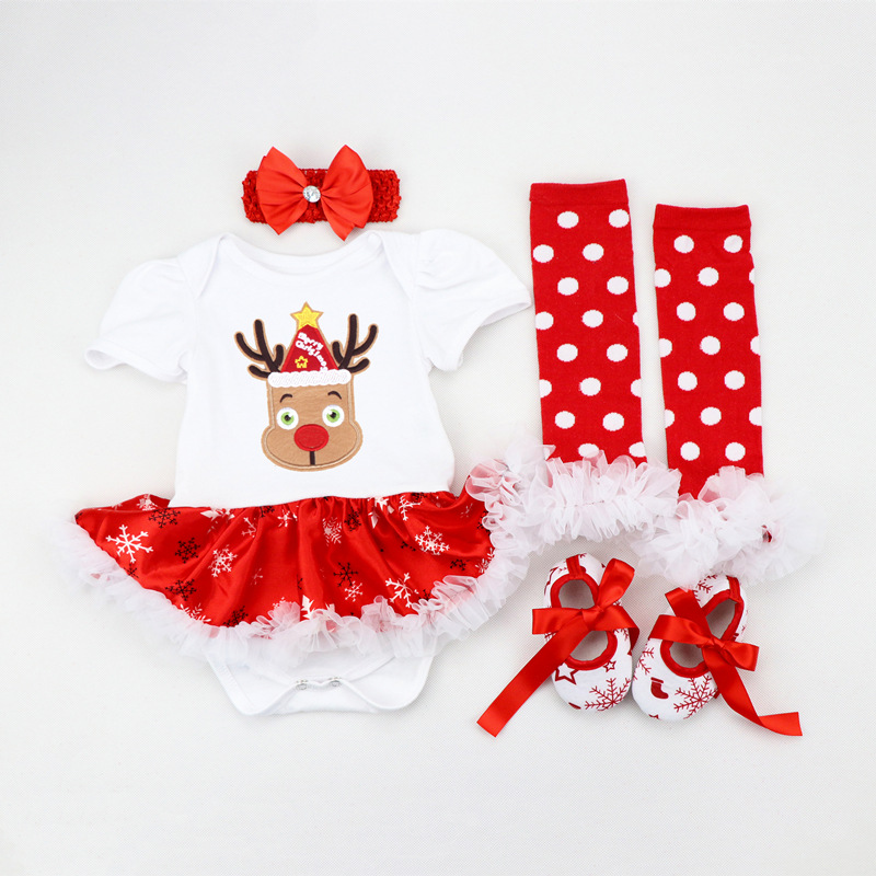 f797b6a12 Christmas Baby Costumes Clothes Newborn Romper Clothing Bebes Party Cosplay  Gift Lace Short Sleeve Tutu Dress birthday Jumpsuits-in Rompers from Mother  ...