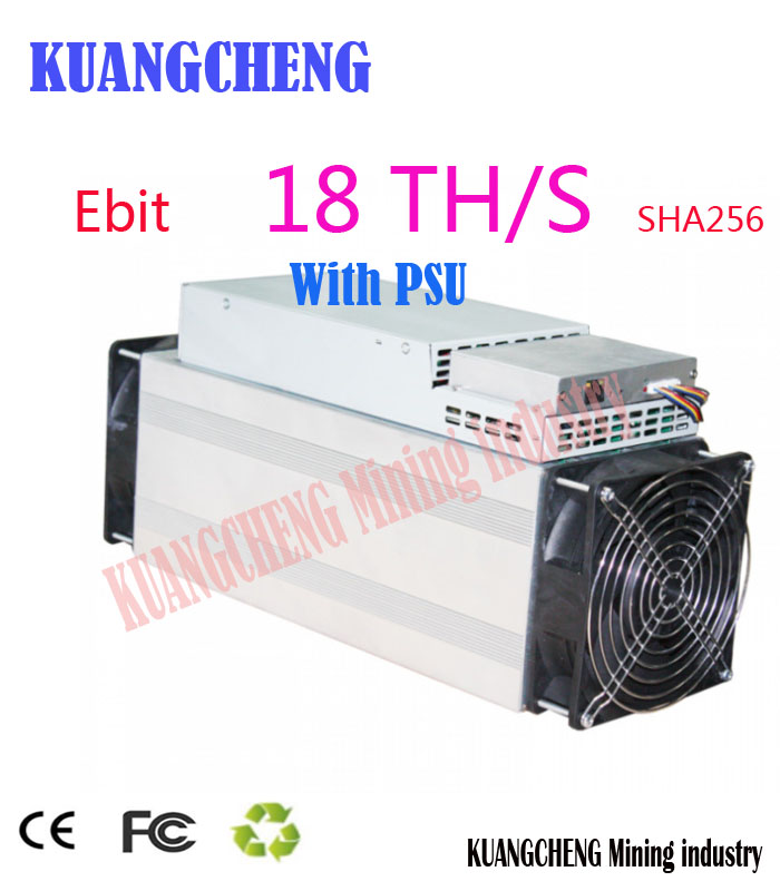 Used Asic Miner Ebit E10 18T SHA256 Bitecoin BCH BTC Miner Better Than Antminer S9 S11 S15 WhatsMiner M3X M10 Innosilicon T2T T3(China)