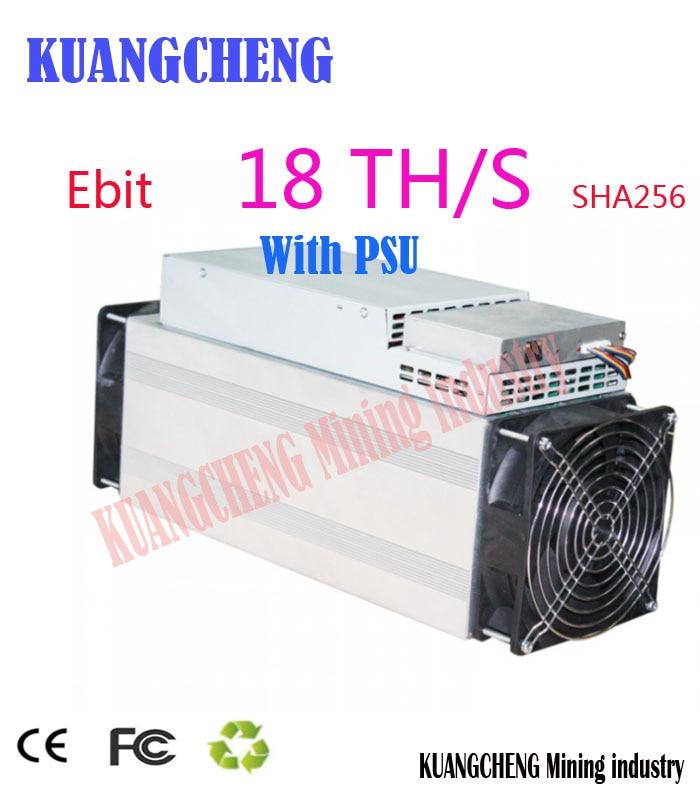 Купить с кэшбэком Used Asic miner Ebit E10 18T SHA256 Bitecoin BCH BTC Miner Better than antminer S9 S11 S15 WhatsMiner M3X M10 Innosilicon T2T T3