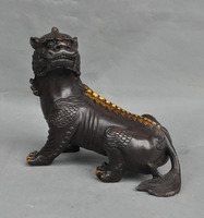 christmas Old China Fengshui bronze Evil Spirits Kirin Unicorn Kylin Guardian beast Statue halloween