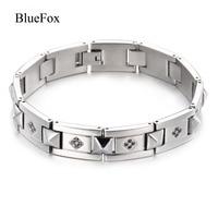 Men S Titanuim Steel Fashion Charms Bracelet Bangles High Quality Fine Steel Chic Wrist Band Hand