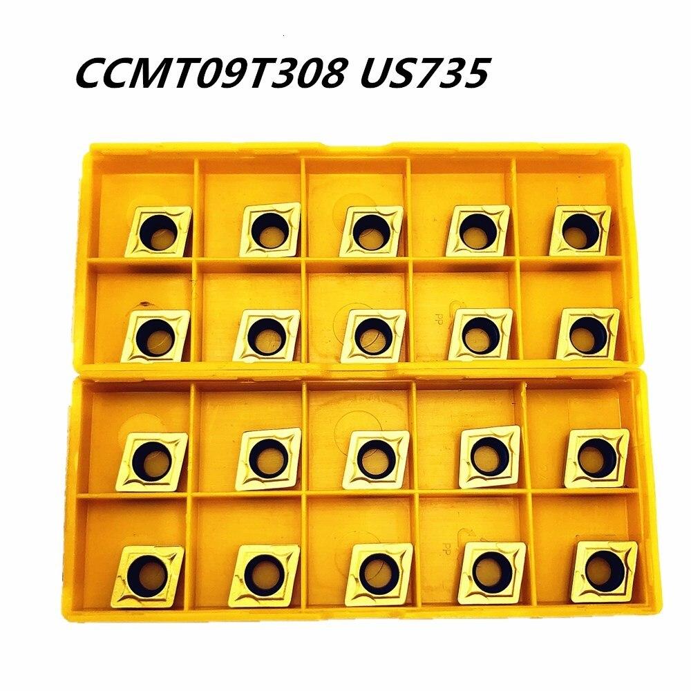 PCS ferramenta Torno CCMT09T308 50 US735 produto de alta qualidade carbide ferramenta CNC ferramenta de metal ferramentas de torneamento de aço inoxidável especial