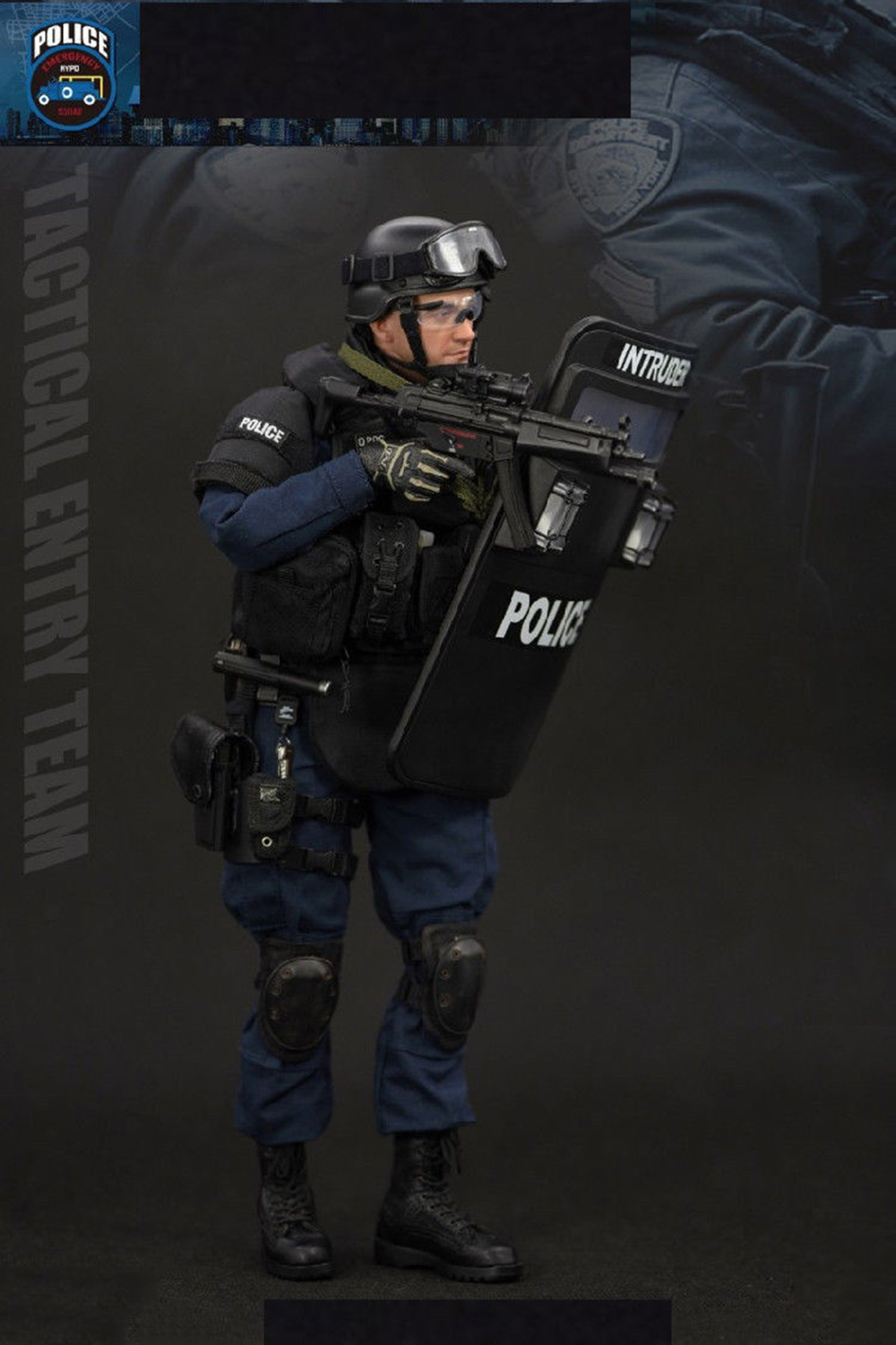 Soldier Story Action Figures Knee Pads Police ESU Entry Unit 1//6 Scale