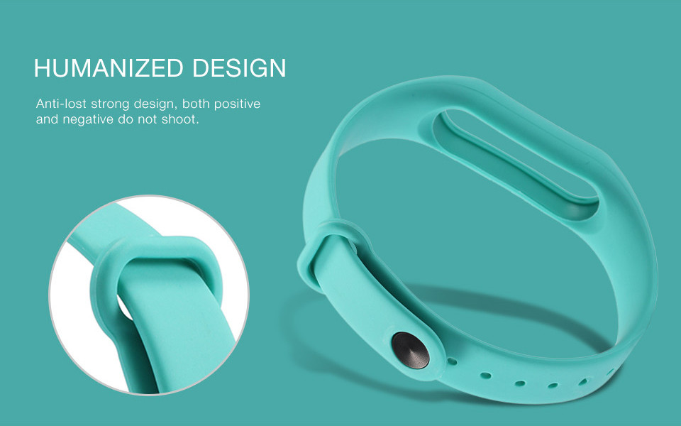 Teyo Silicone Replacement Wrist Strap For Xiaomi Mi Band 2 Smart Band Accessories Miband 2 for Xiaomi Mi Band 2 Smartband Sraps 7
