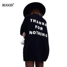 Женский трикотажный свитер rugod 2020 с v образным вырезом и