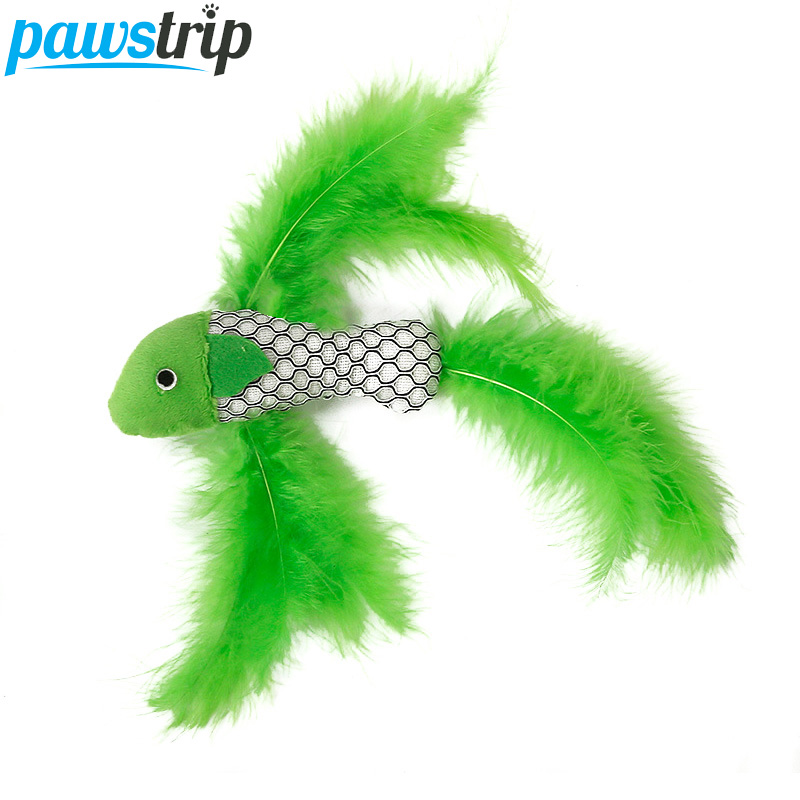 pawstrip 1pc New Design Fish Cat Toys Feather Catnip Cat Scratcher Cleaning Tooth Toy For Cats Kitten 22cm
