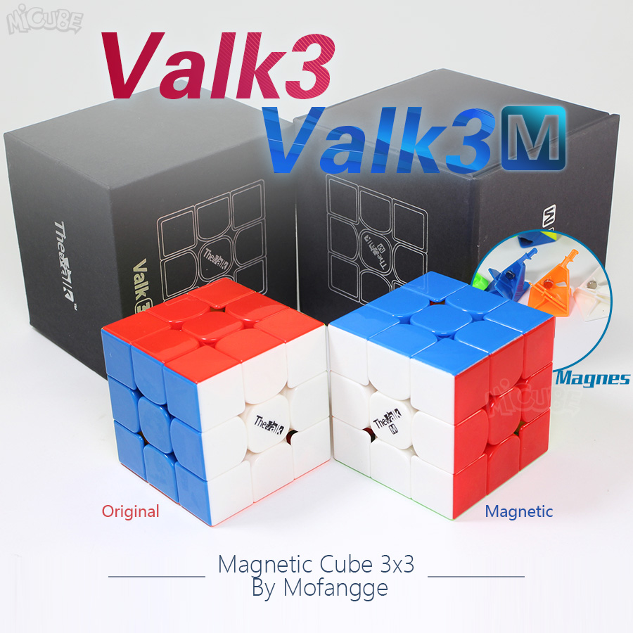 Mofangge Valk3 Valk3M Magic 3x3 Cube Speed Magnetic Cube3x3x3 Valk 3 Puzzle Magic Cube Toys For Children Magnet & No-mangntic