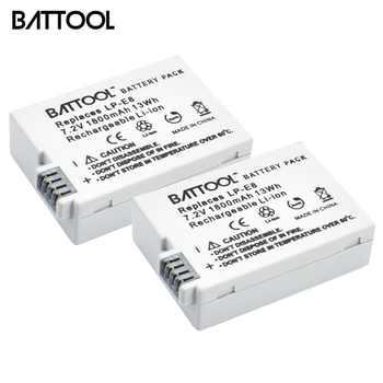 2 paquets 7.2V 1800mAh LP-E8 LP E8 LPE8 Li-ion Batterie Pour Appareil Photo Canon EOS 600D 650D 550D 700D T4i T5i Rebelles T2i Bateria DSLR