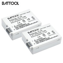 2Packs 7.2V 1800mAh LP-E8 LP E8 LPE8 Li-ion Camera Battery For Canon EOS 600D 650D 550D 700D T4i T5i Rebel T2i Bateria DSLR