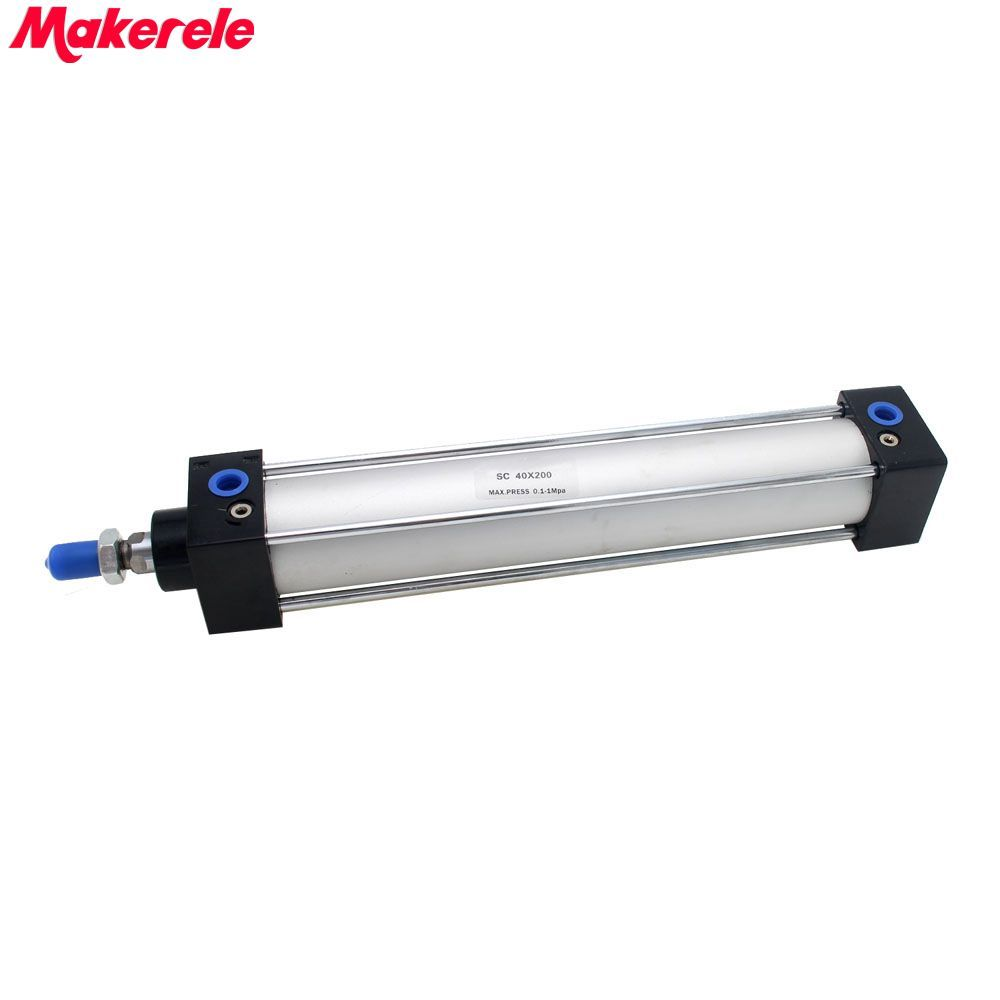 цена на Pneumatic Cylinder 40mm Bore 200mm Stroke Double Acting Air Cylinder Free Shipping Makerele